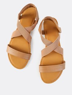 Shop Cross Elastic Strap Sandals TAN online. SheIn offers Cross Elastic Strap Sandals TAN & more to fit your fashionable needs.