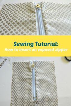 Sewing Tutorial: How to insert an exposed zipper. Learn how to insert an exposed zipper with this easy, step by step beginners sewing tutorial