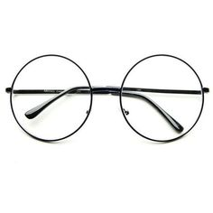 Oversized Large Clear Lens Retro Round Circle Glasses Eyeglasses in... ❤ liked on Polyvore