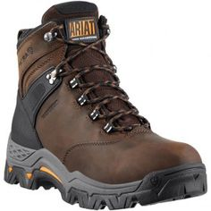 10011960 Ariat Men's Trek H2O Work Boots - Brown www.bootbay.com