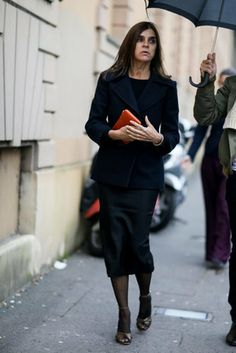 Carine Roitfeld does posh like nobody's business.                  Source: IMAXTREE / vincenzo grillo