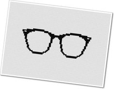 Horn Rimmed Glasses  PDF Cross Stitch Pattern by weelittlestitches