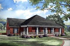 Southern   Traditional   House Plan 61053