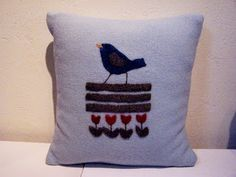 A small shop with pillows,wall hangings and framed art made from recycled woolen sweaters and blankets as well as nature-inspired linocut prints. Linocut Prints, Wool Blanket, Baby Blue, Framed Art, Recycling, Throw Pillows, Inspiration, Design, Fleece Blanket Edging