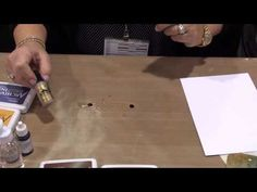 Wendy Vecchi shares a great technique for creating backgrounds using her Designer Series Archival Ink and basic rubbing alcohol at the Winter CHA 2014 show!