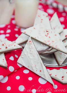 Peppermint Chocolate Bark  I just made it, came out perfect.. yummy jeri