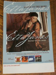 Etta James / Blues To The Bone / 2004 RCA Records Promo Only Poster / VERY RARE