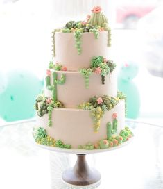 Cute cactus wedding