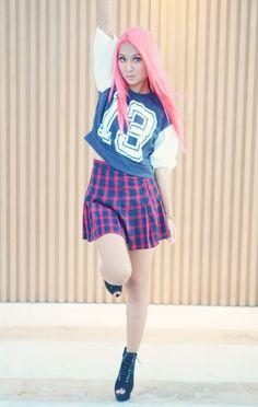 #pinkhair #style #asian #fahion #foki #soirak