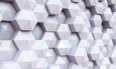 Um cubo 3D estereoscópico de Fundo Branco