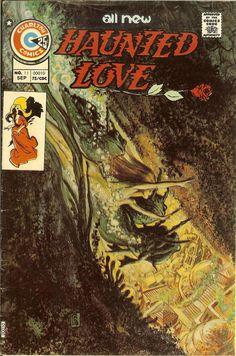 "Haunted Love Issue # 1 (Charlton Comics) ""Eternal Teacher"" – story, no synopsis written). Charlton Comics, Story Arc, Horror Comics, Vintage Comics, Comic Covers, Cover Art, Vines, Comic Books, Thing 1"