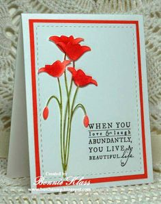 beautiful life card by Bonnie Klass