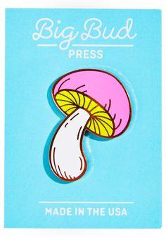 Big Bud Press Magic Mushroom Enamel Pin