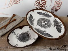 Oval Platters by Laura Zindel