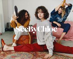 See By Chloe enlists a cast of fresh faces for its spring-summer 2018 campaign. Captured by Oliver Hadlee Pearch, models Julia Nicole Meyer, Nandy Nicodeme… Chloe Fashion, All Fashion, Beauty Editorial, Editorial Fashion, Adele, Nicole Meyer, Outdoor Fashion, Advertising Photography, See By Chloe