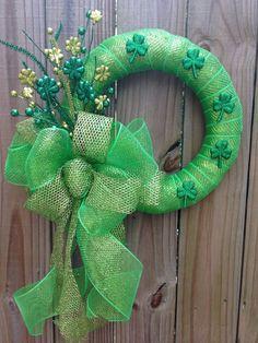 St Patricks Day Wreath. | Kate Tilton, Connecting Authors & Readers