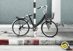 "Clima Bicycle Lock: ""POLECYCLE"" Print Ad  by Leo Burnett"