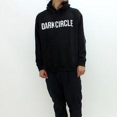 f8936d619274a Dark Circle Logo Hooded Sweat Black