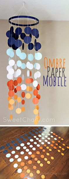 Easy DIY Ombre Paper Mobile