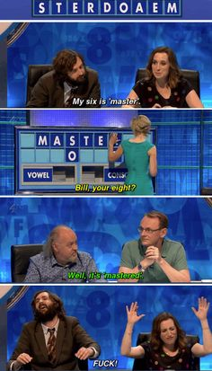 "When Isy Suttie masked her frustration. | 34 Times ""8 Out Of 10 Cats Does Countdown"" Was Almost Too Funny"