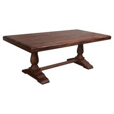 From its trestle-inspired design to turned column legs, this classic dining table is perfect for farm-fresh dinners and Sunday brunches.   ...