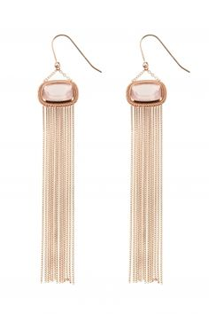 rose gold plated #gemstone earrings I designed by iris y. for NEW ONE I NEWONE-SHOP.COM