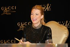Blake Lively attends a photocall and meets 'Gucci Premiere' competition winners at Galeries Lafayette, Dubai Mall on January 3, 2014 in Dubai, United Arab Emirates.