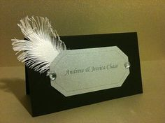 placecards! Love the Feather!
