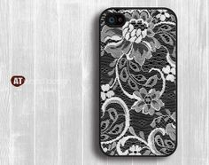 classic lace drapery flower Hard case Rubber case by Atwoodting, $6.99