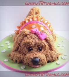 Puppy dog cake tutorial                                                                                                                                                                                 More