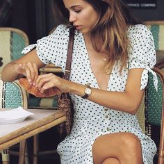 Faithfull the Brand Billie Lula Dot Dress Girl Fashion, Fashion Outfits, Womens Fashion, Summer Outfits, Cute Outfits, Estilo Blogger, French Girl Style, Faithfull The Brand, Look Vintage