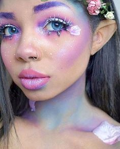 Mardi Gras Carnival - 27 make-up tips and wig ideas-Fasching Karneval – 27 Schminktipps und Perücken Ideen Carnival makeup for fairy, unicorn or other fairy tales - Sfx Makeup, Makeup Tips, Beauty Makeup, Makeup Ideas, Prom Makeup, Makeup Trends, Makeup Tutorials, Face Makeup, Witch Makeup