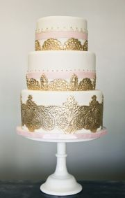Gorgeous!!  Love the gold, cream, and pale pink together!