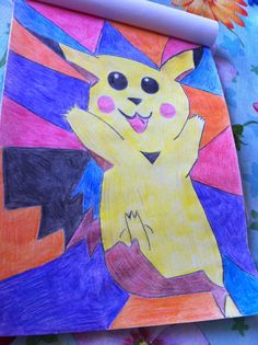 Picichu  Colored Pencil Drawing  By Creative Artistry By Christina V Saunders