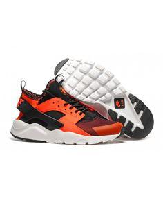 timeless design a3895 81fc2 Homme Nike Air Huarache Noir Orange Chaussures Absolument authentique, beau  travail, des concessions de