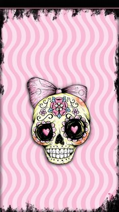 Ibabygirl i5 wallpapers animal print hearts with skull and pink halloween voltagebd Image collections