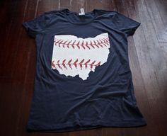 Cleveland baseball Ladies t-shirt Buy Any 3 Shirts Get a 4th FREE