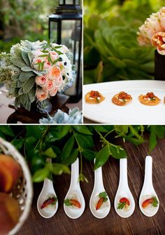 Definitely using Lambs Ear in my wedding.  And cute little hors d'oeuvre.