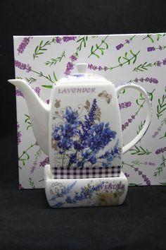 "Tee Kaffeekanne ""Lavendel"" Porzellan Geschenkidee Atelier, China China, Coffee Mugs, Anniversary, Enamel, Lavender, Holiday, Birthday"