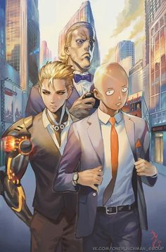 ONE PUNCH MAN • King, Genos, & Saitama