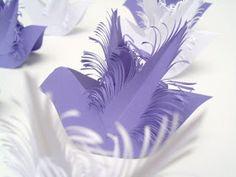 Handmade Paper-Heaven: Purple doves love birds as wedding decorations / Pasarele porumbei mov ca si decoratii pentru nunta