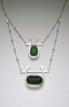 Sea Glass Jewelry  Sterling Green Sea Glass by SignetureLine, $250.00