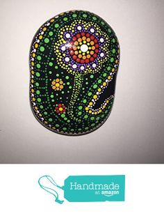Hand Painted Mandala Stone #93 from Mafa Stones http://www.amazon.com/dp/B01CIJA1KO/ref=hnd_sw_r_pi_dp_1Pg2wb01T6VD7 #handmadeatamazon