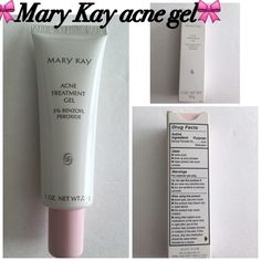 Mary Kay acne gel Mary Kay acne gel containing gentle 5% benzoyl peroxide. Effective yet gentle. Mary Kay Makeup