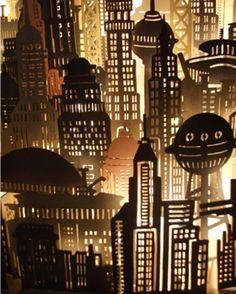 Laser cut city