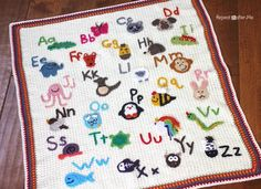 Crochet Animal Alphabet Afghan - Repeat Crafter Me