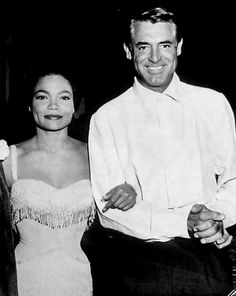 Eartha Kitt and Cary Grant