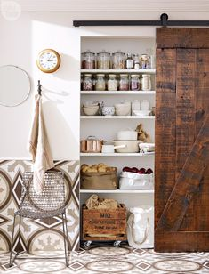 High/low: Country-style kitchen pantry {PHOTO: Michael Nangreaves}