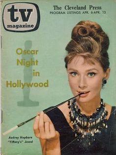 tv magazine (april 1961) Breakfast at Tiffany star Audrey Hepburn
