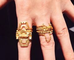 Maria Black rings // these are so amazing-- they must be endlessly distracting when worn.